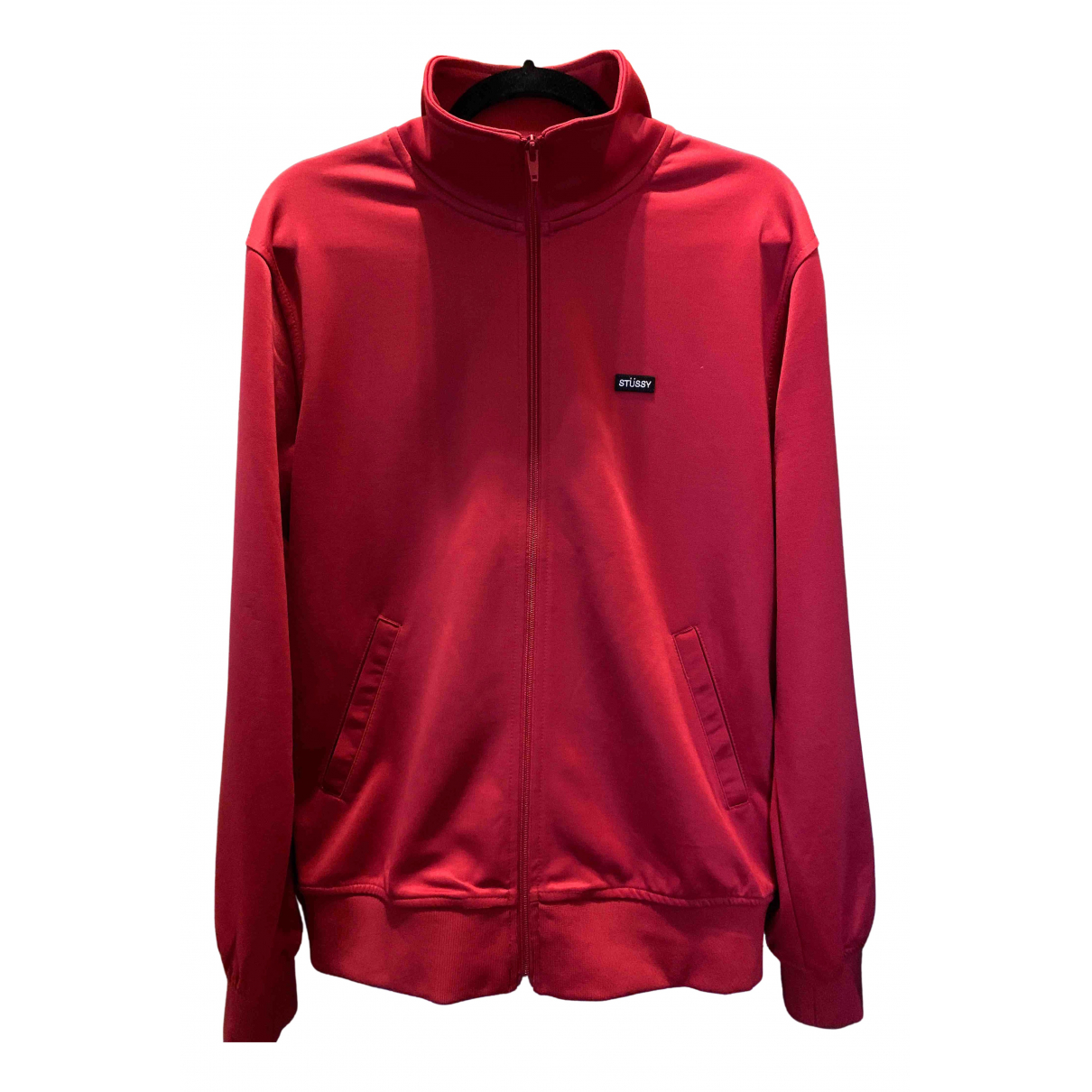 Stussy \N Pullover.Westen.Sweatshirts  in  Rot Polyester