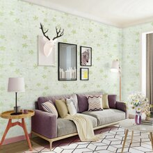 1roll Floral Pattern Wallpaper Sticker