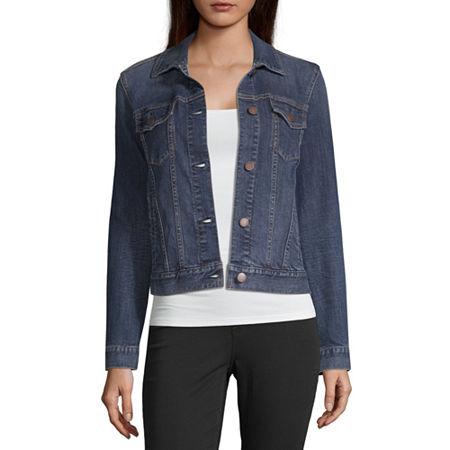 a.n.a Lightweight Denim Jacket, Large , Blue
