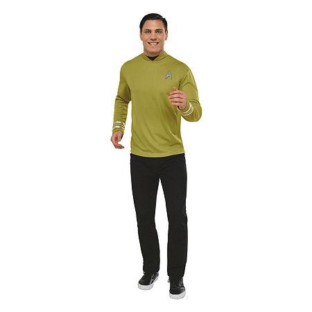 Star Trek Mens Deluxe Captain Kirk Costume Shirt Costume, One Size , Multiple Colors