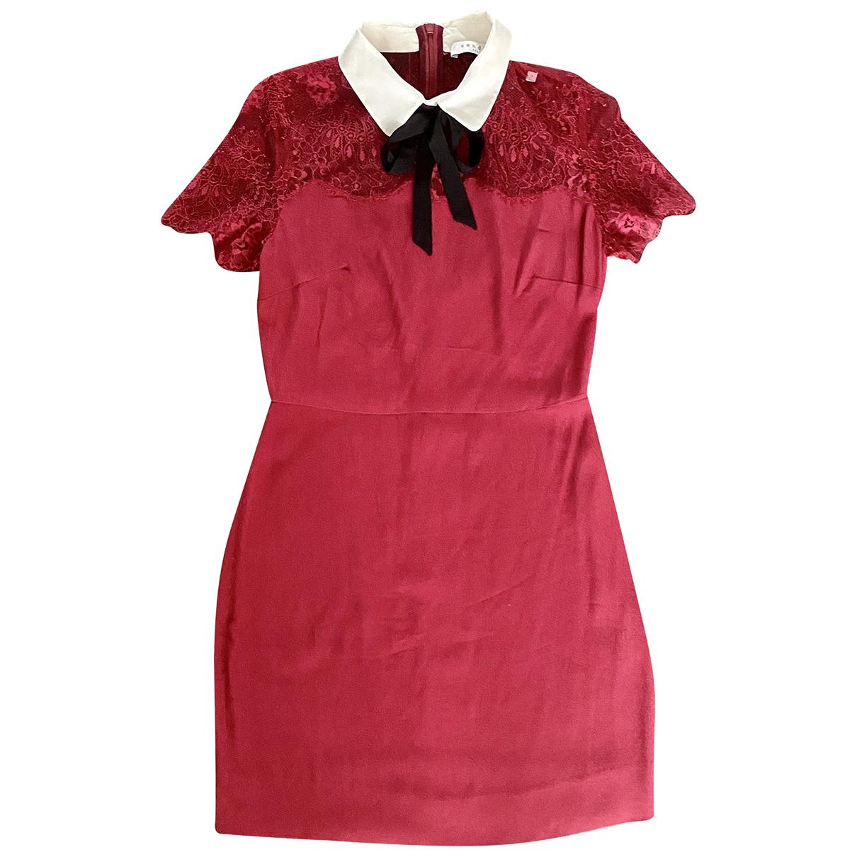 Sandro \N Kleid in  Rot Viskose