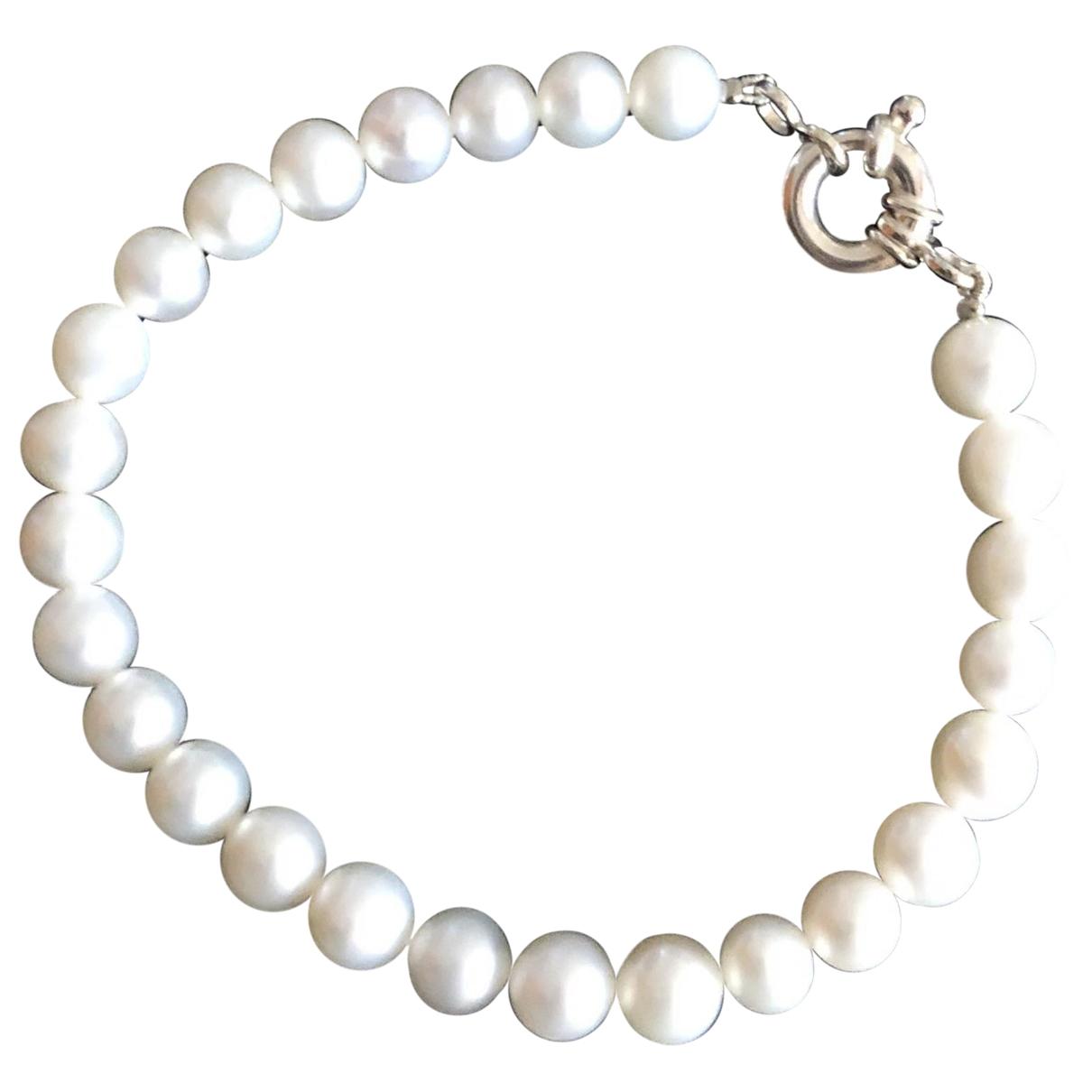 - Bracelet   pour femme en perles - blanc