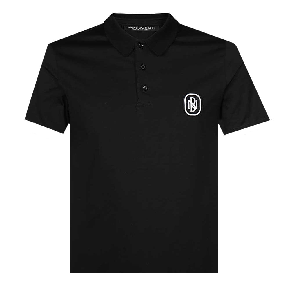 Neil Barrett Logo Polo Colour: BLACK, Size: MEDIUM