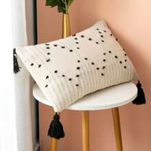 Funda de almohada con fleco sin relleno