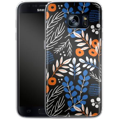 Samsung Galaxy S7 Silikon Handyhuelle - Forest Floor von Jenna Kunnas