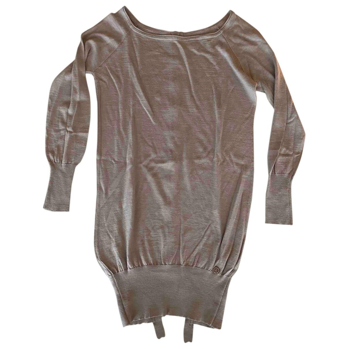 Non Signé / Unsigned N Beige Wool Knitwear for Women 42 IT