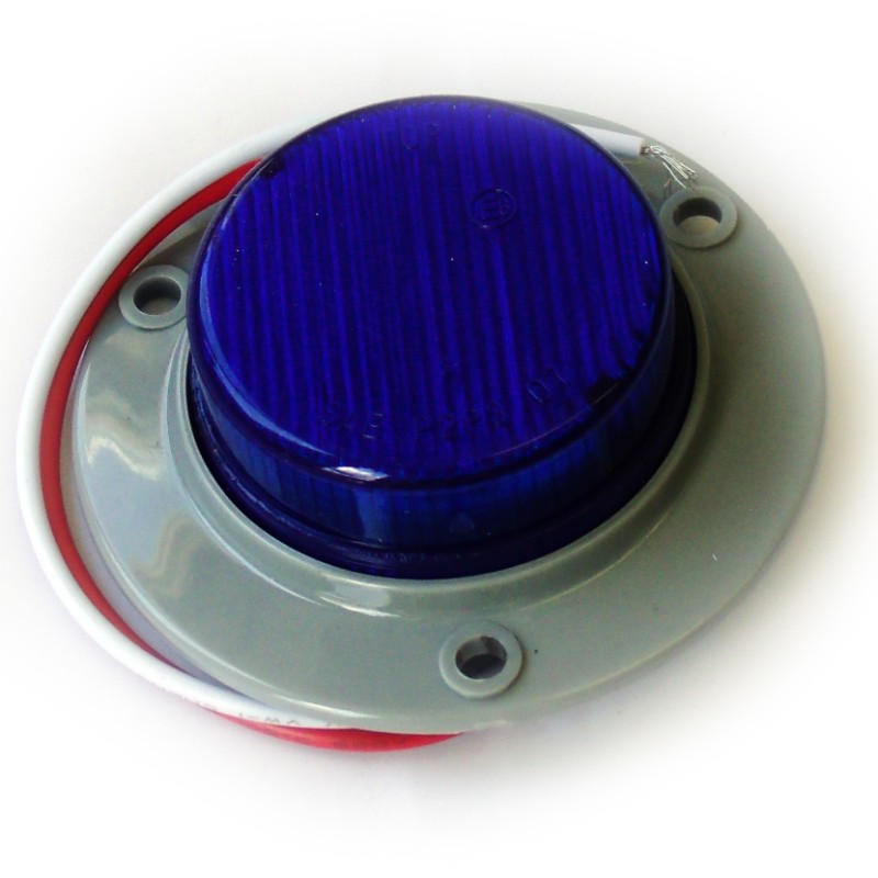 Race Sport Lighting RS-2-3HB Blue Truck and Trailer LED  Round 2.0 Inch
