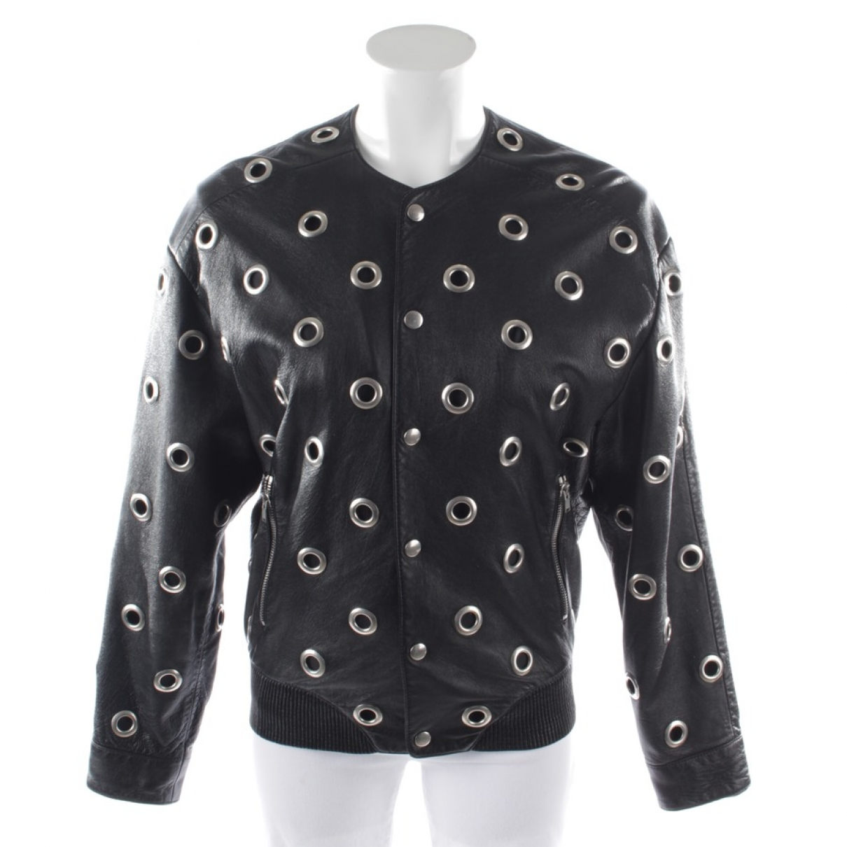Saint Laurent \N Black Leather jacket for Women 34 FR