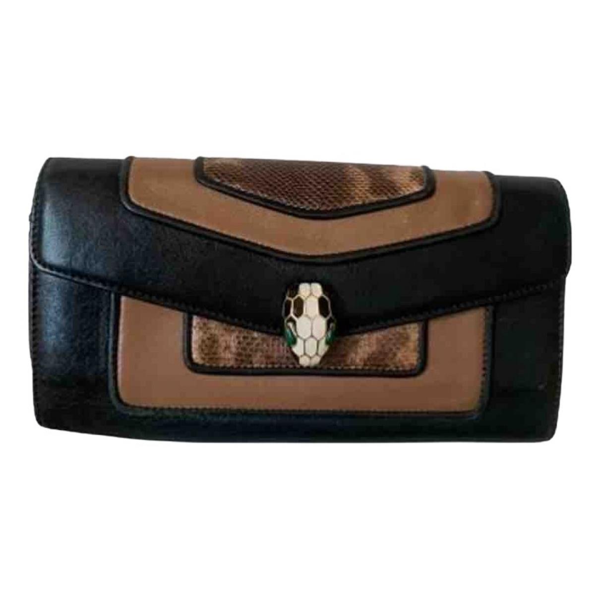 Bvlgari Serpenti Black Leather wallet for Women N
