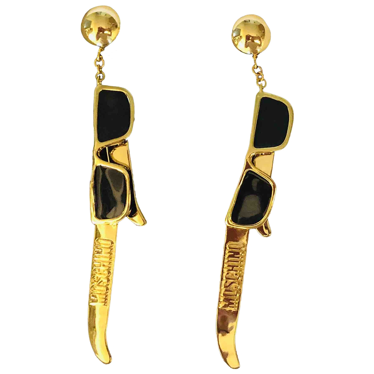 Moschino For H&m \N Gold Metal Earrings for Women \N