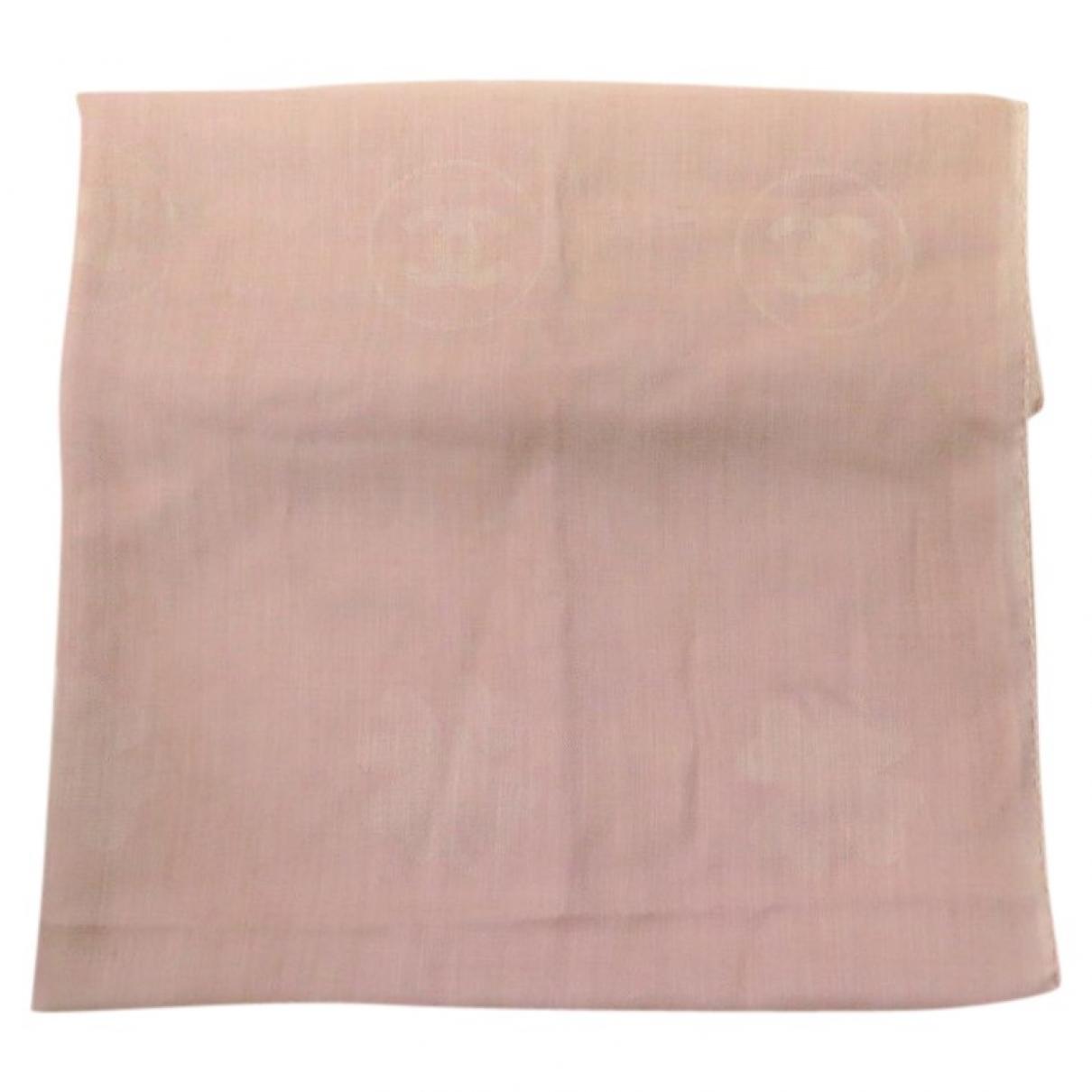 Chanel - Foulard   pour femme en cachemire - rose