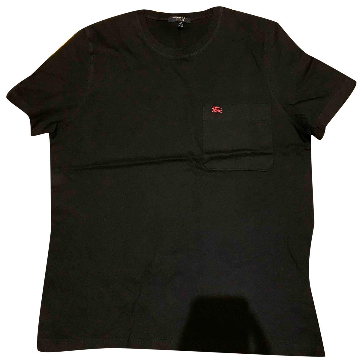 Burberry - Tee shirts   pour homme en coton - noir