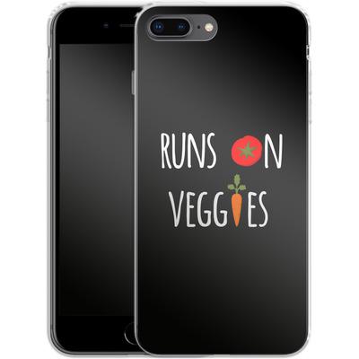 Apple iPhone 7 Plus Silikon Handyhuelle - Runs on Veggies von caseable Designs