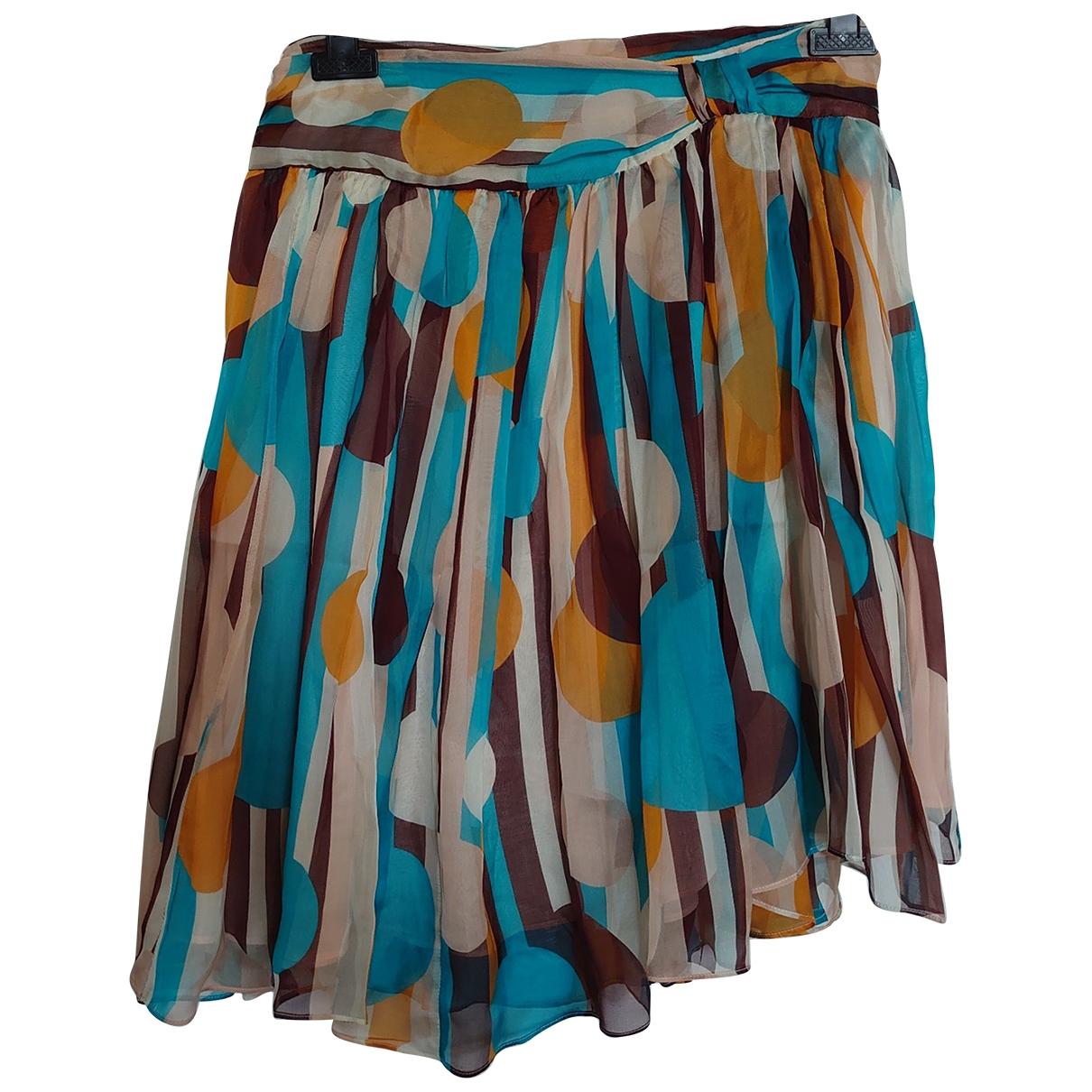 Cacharel - Jupe   pour femme en soie - multicolore