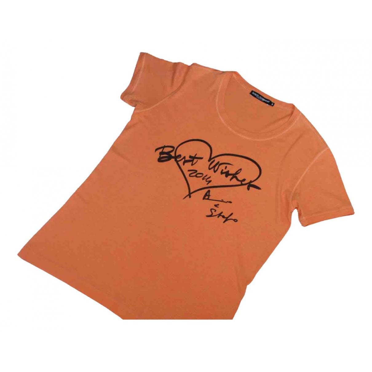 Dolce & Gabbana \N Orange Cotton Knitwear for Women 44 IT