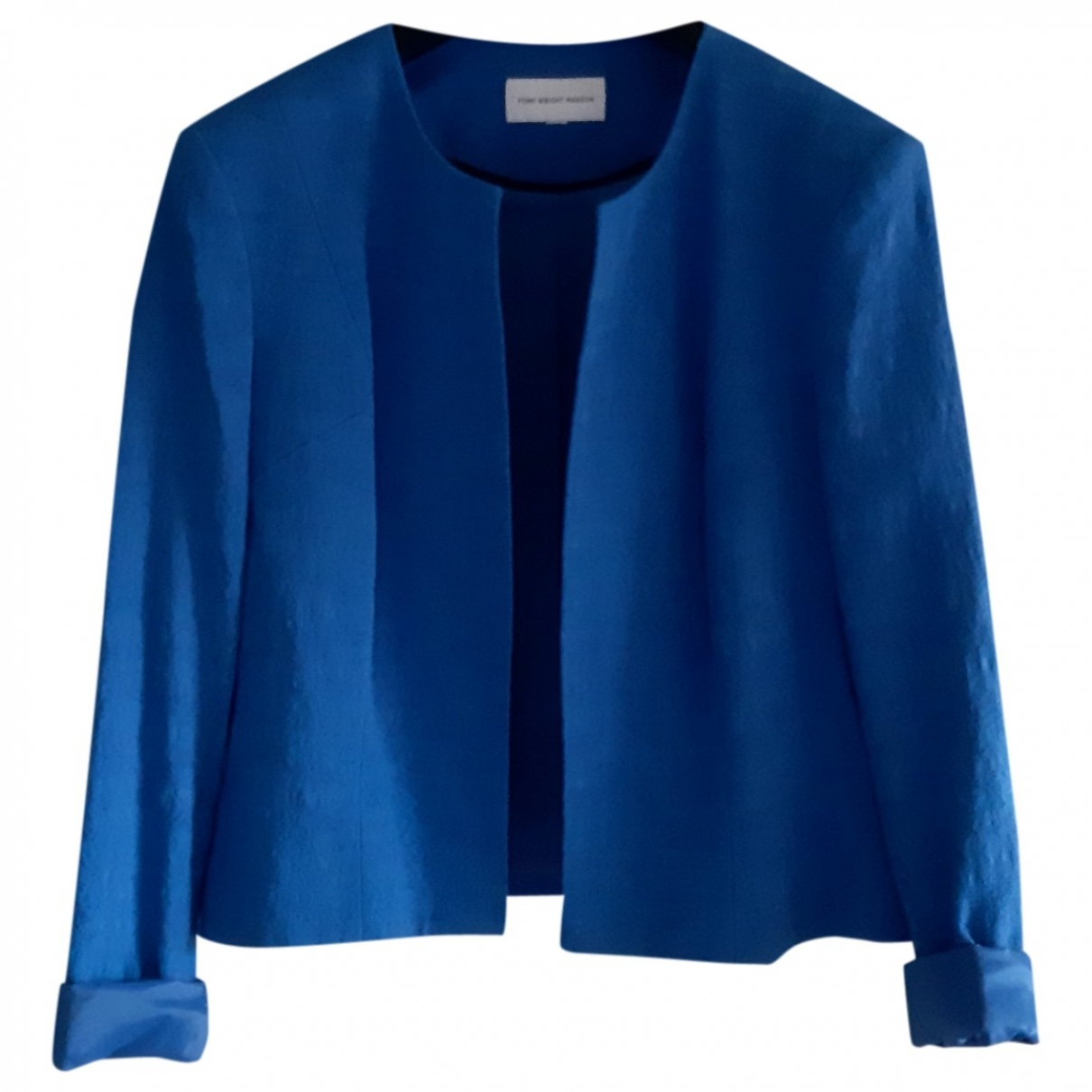 - Veste Epaulettes pour femme en coton - bleu