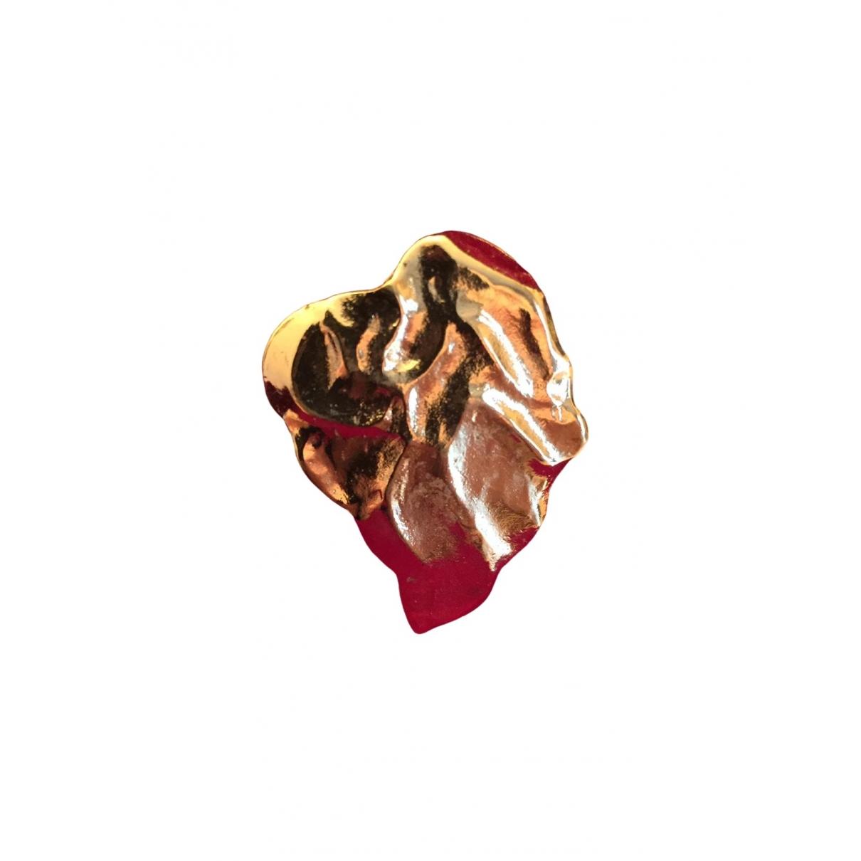 Yves Saint Laurent \N Brosche in  Gold Metall