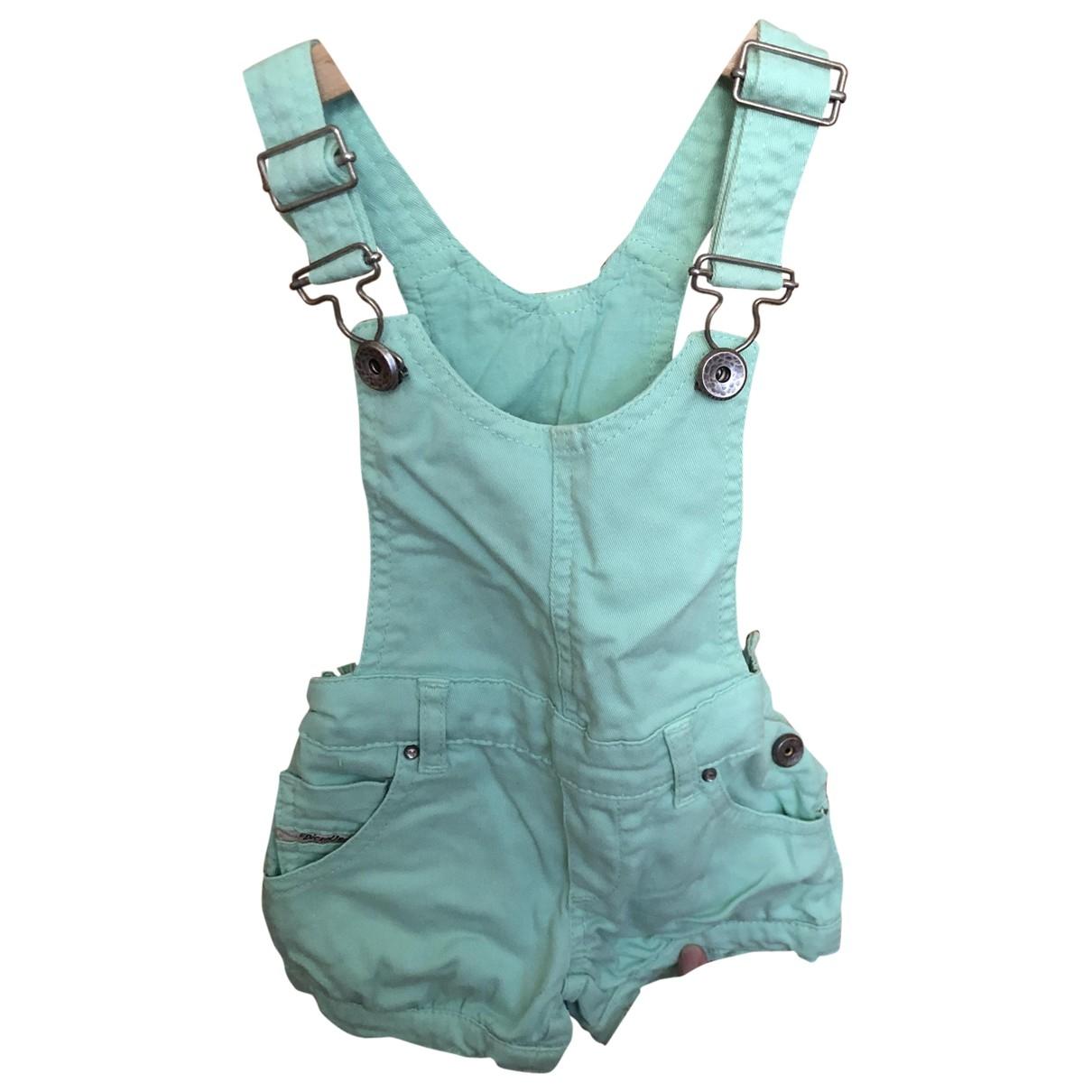 Diesel - Pantalon   pour enfant en coton - vert