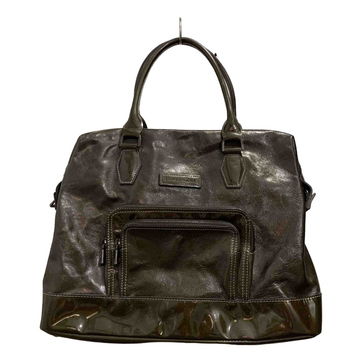 Longchamp \N Green Patent leather handbag for Women \N