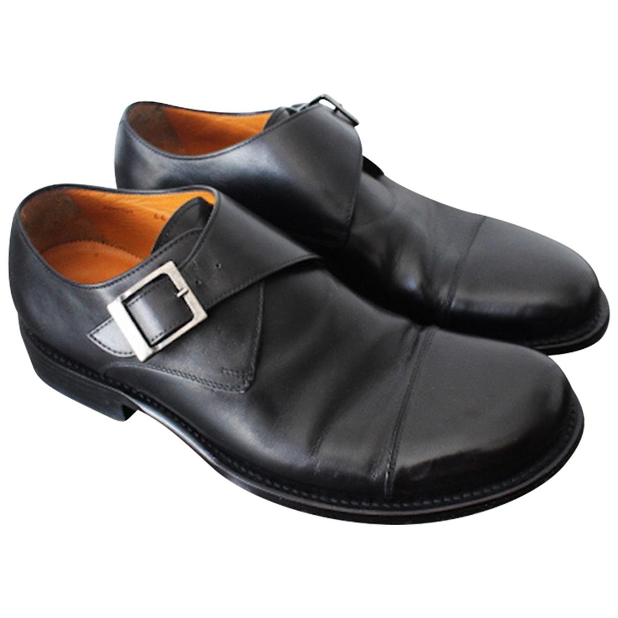 Giorgio Armani - Derbies   pour homme en cuir - noir