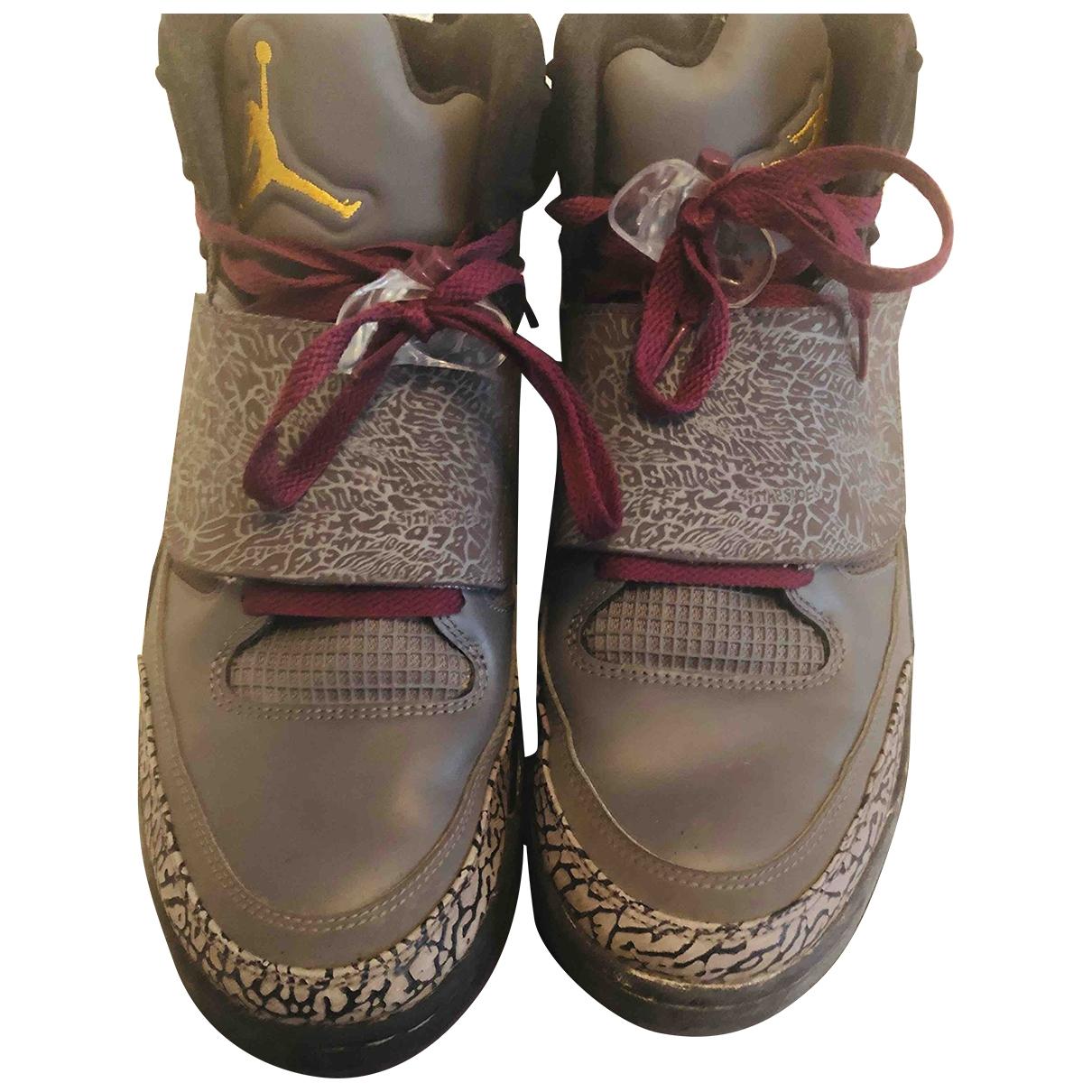 Jordan - Baskets   pour homme en cuir - gris