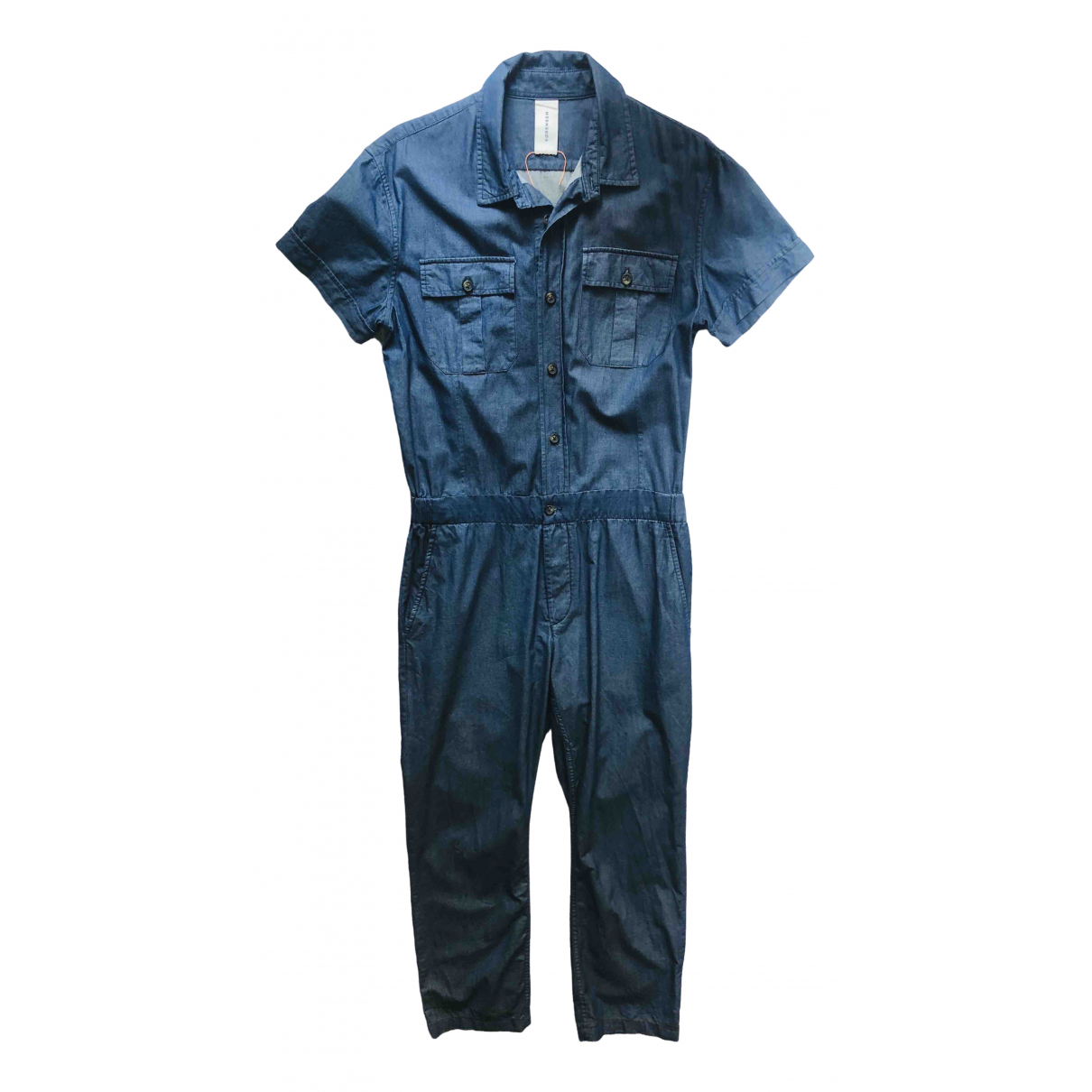 Pantalones en Algodon Azul Sørensen