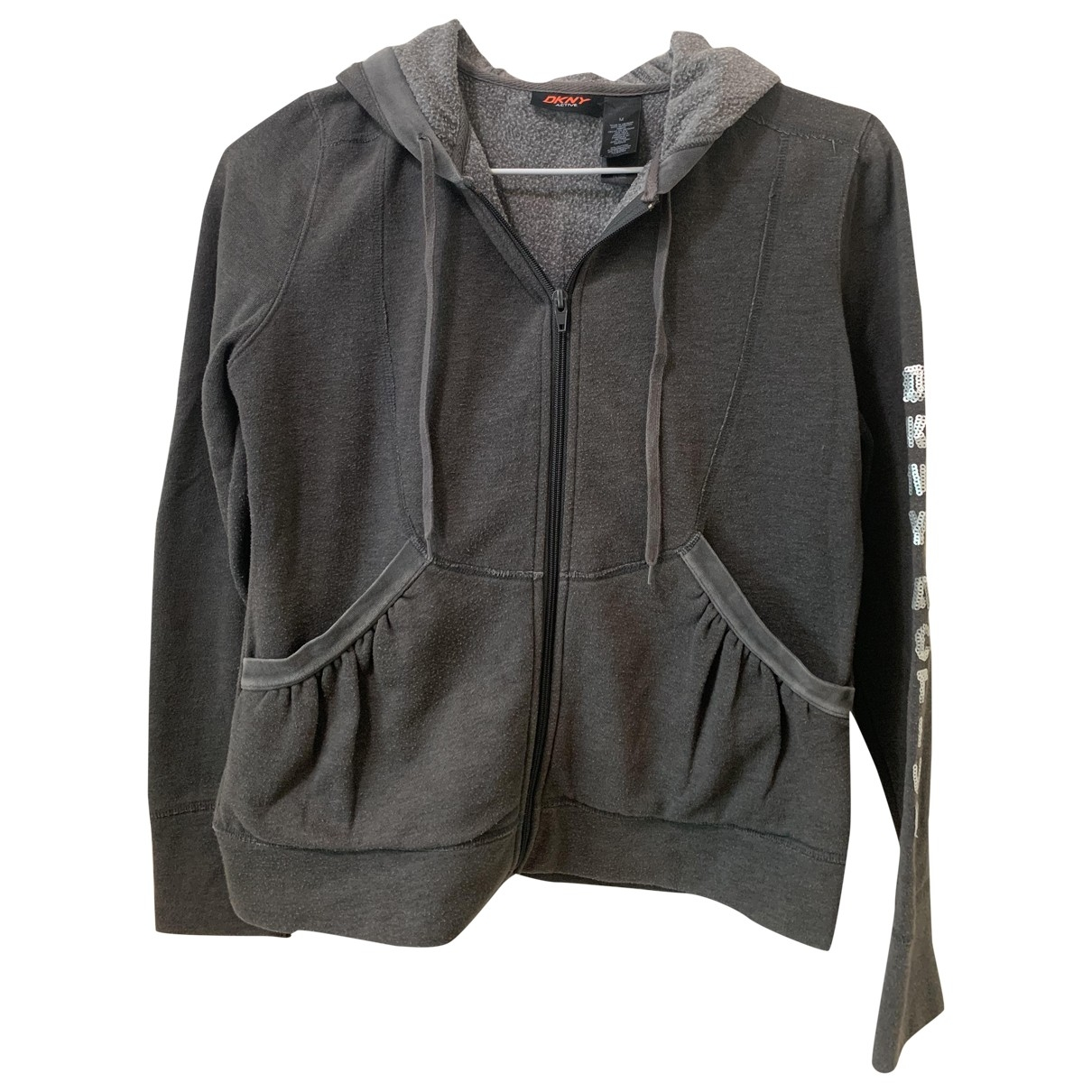 Dkny \N Grey Cotton jacket for Women M International