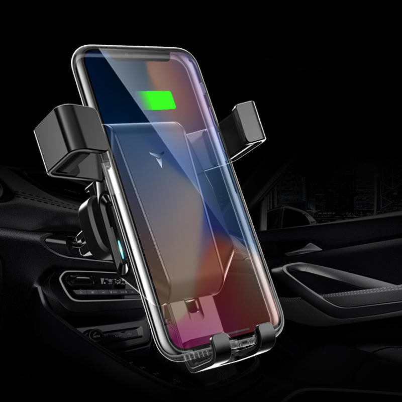 10W Qi Wireless Charger Fast Charging Quick Charge 3.0 Gravity Air Vent Car Phone Holder For Smart Phone iPhone Samsung