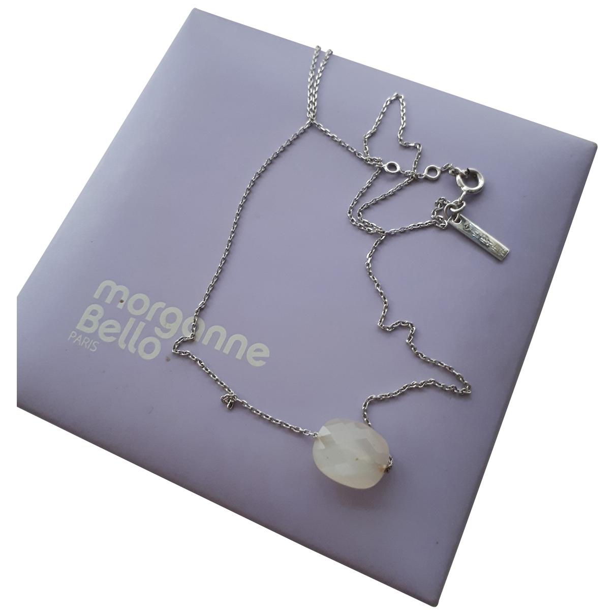 Morganne Bello - Collier Friandise pour femme en or blanc - argente