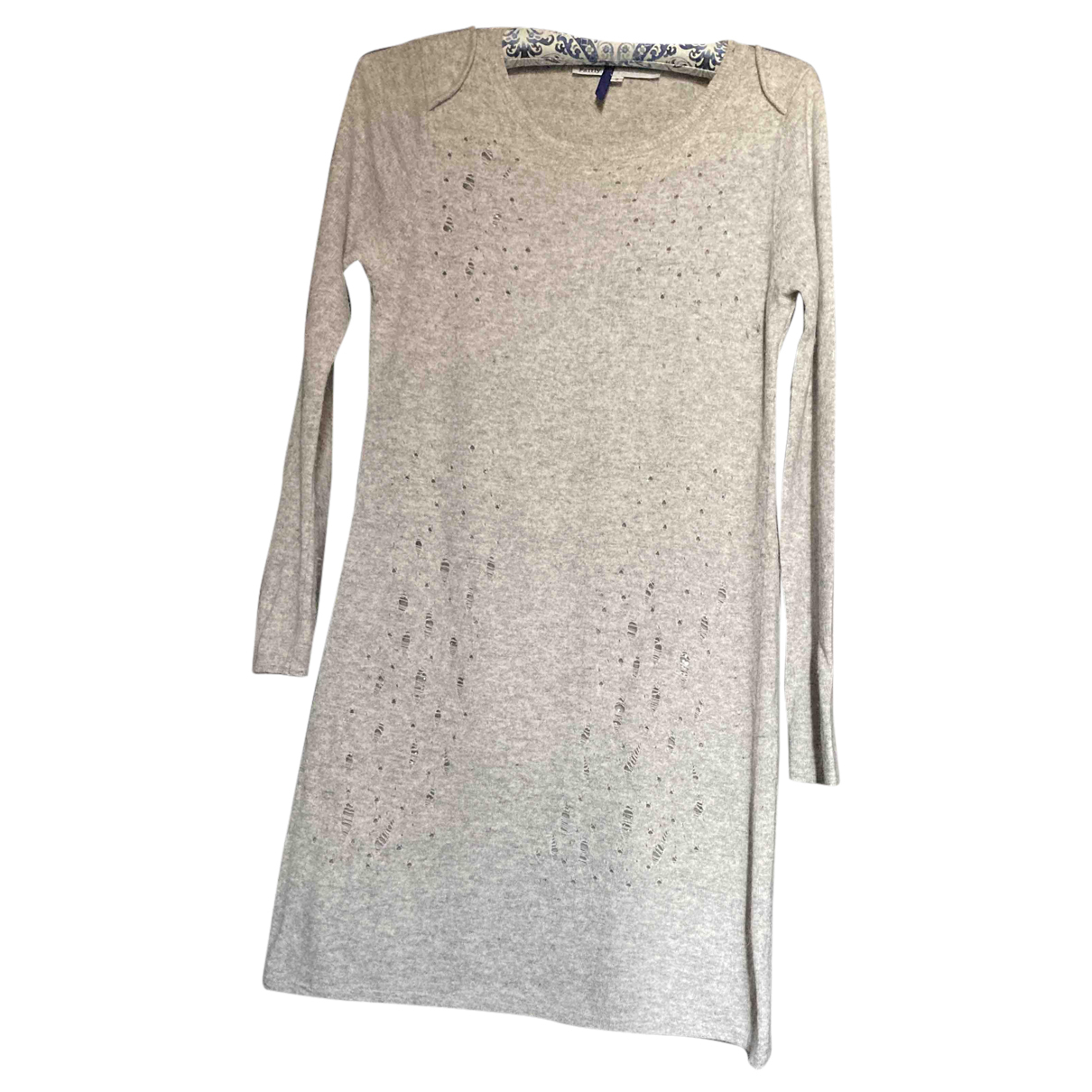 Non Signe / Unsigned Oversize Kleid in  Grau Wolle