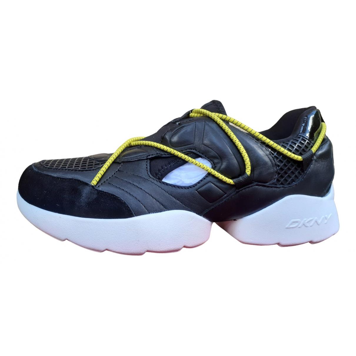 Dkny \N Sneakers in  Schwarz Leder