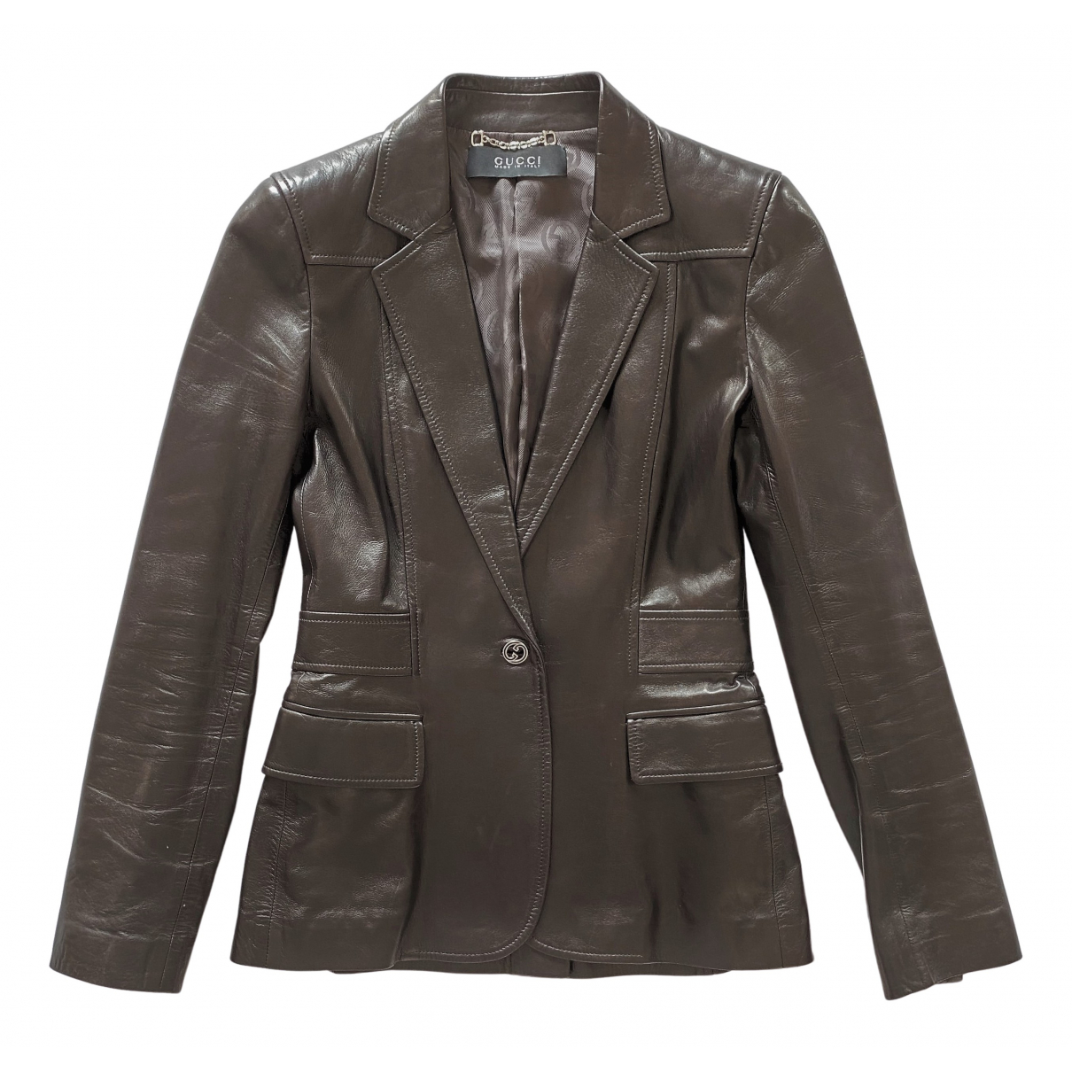 Gucci \N Brown Leather jacket for Women 42 IT