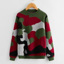 Pullover mit Camo Muster