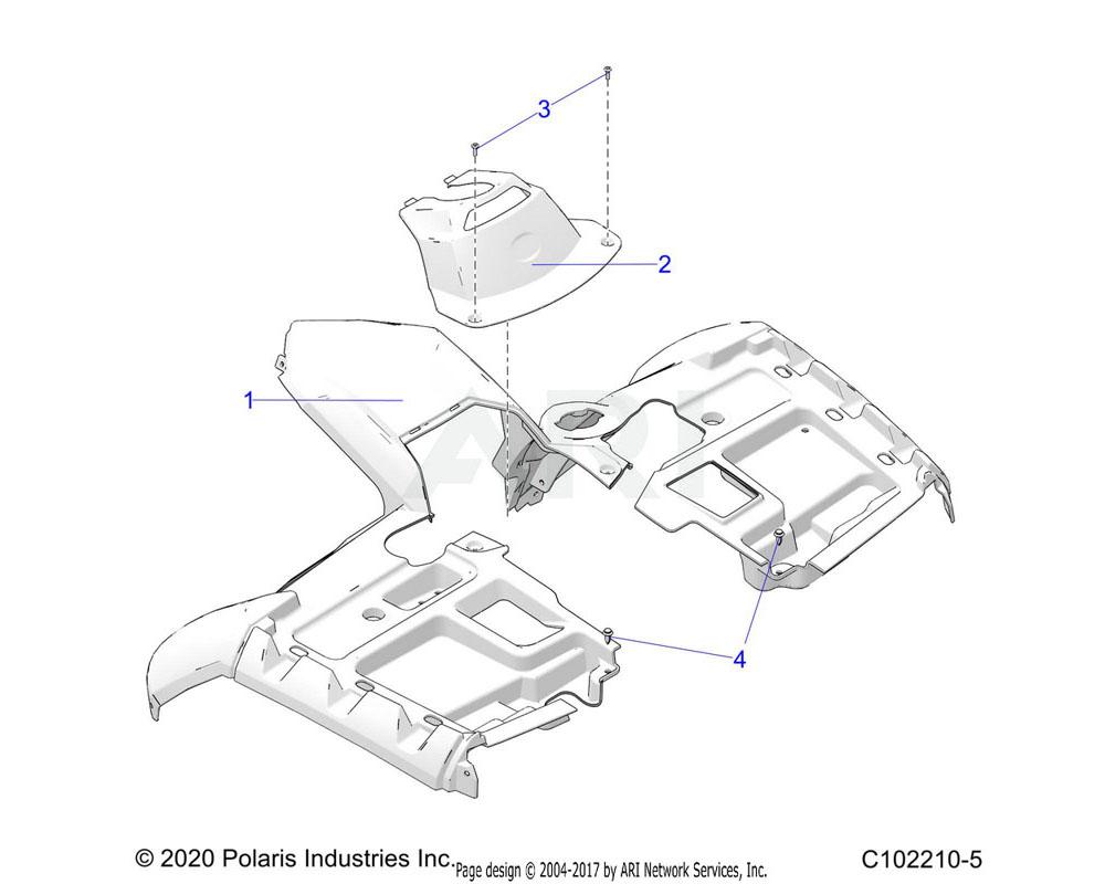 Polaris OEM 5437739-800 COVER-FR, PNTD, ONYX BLK