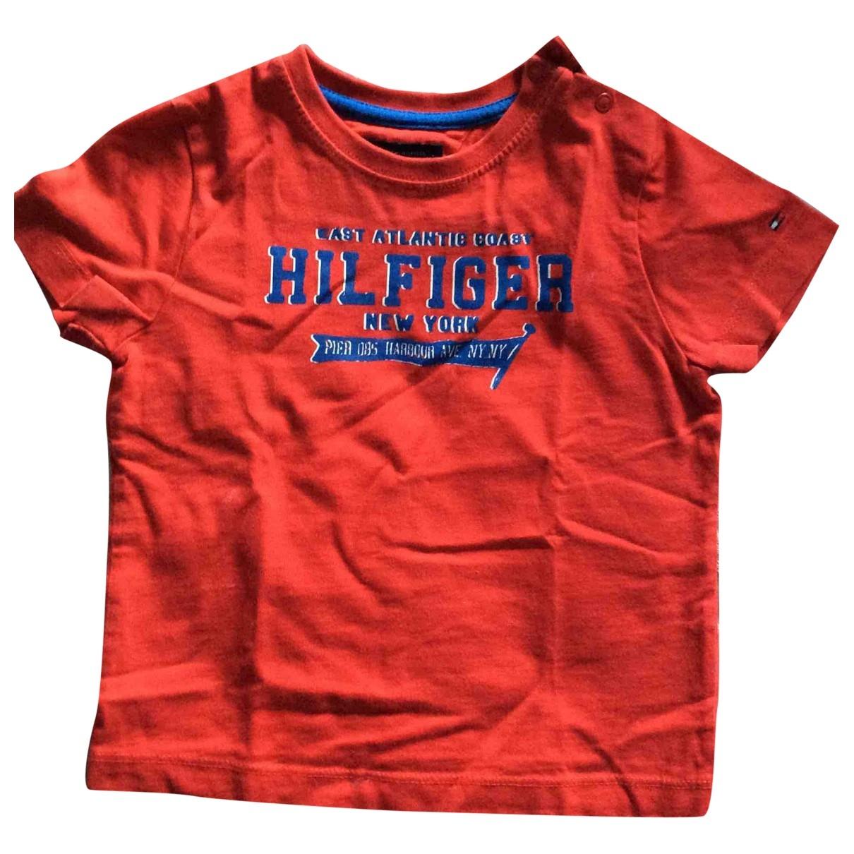Tommy Hilfiger - Top   pour enfant en coton - rouge