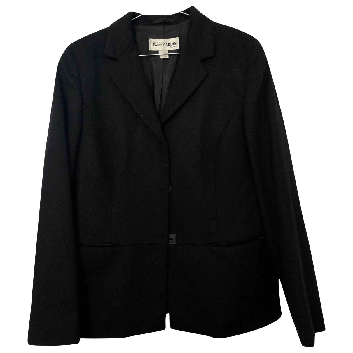 Pierre Cardin \N Black Wool jacket for Women 48 IT