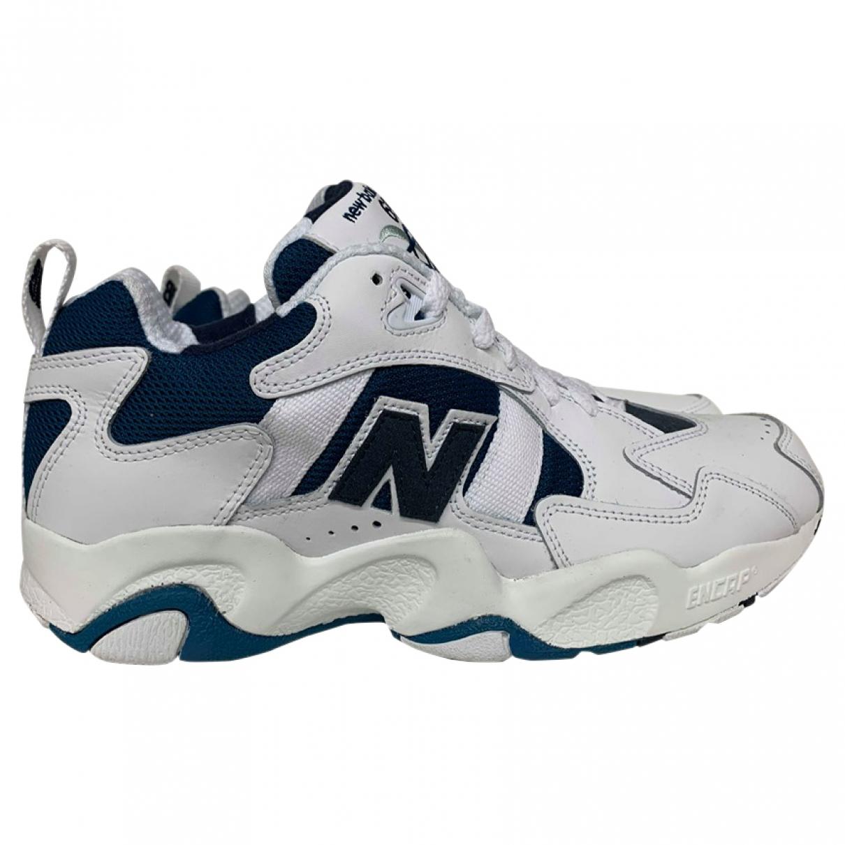 New Balance - Baskets   pour homme en cuir - blanc