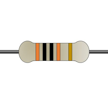 Yageo 1kΩ Carbon Film Fixed Resistor 1/2W 5% CFR50SJT-52-1K (5000)