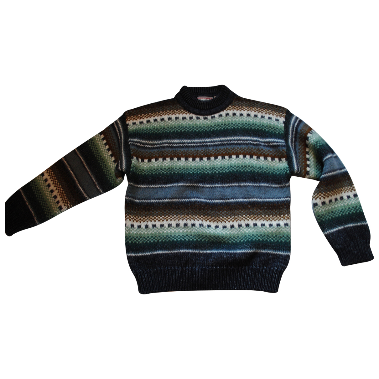 Non Signé / Unsigned Oversize Multicolour Wool Knitwear & Sweatshirts for Men 2 0 - 6