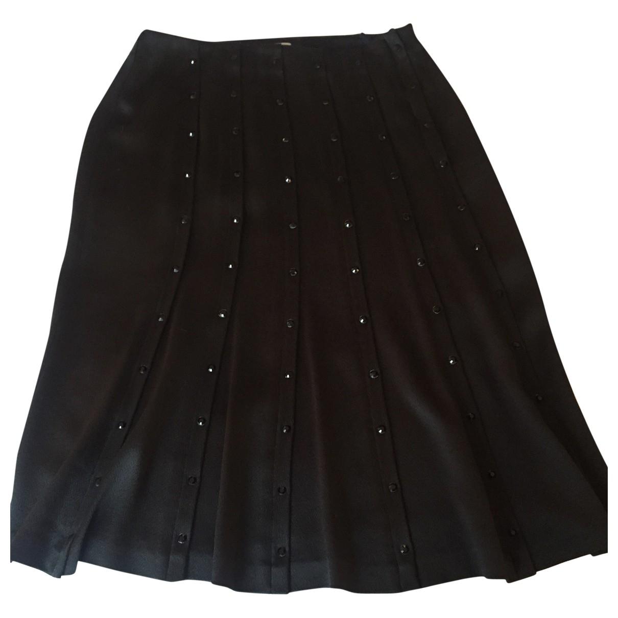 Sonia Rykiel \N Black Silk skirt for Women 36 FR