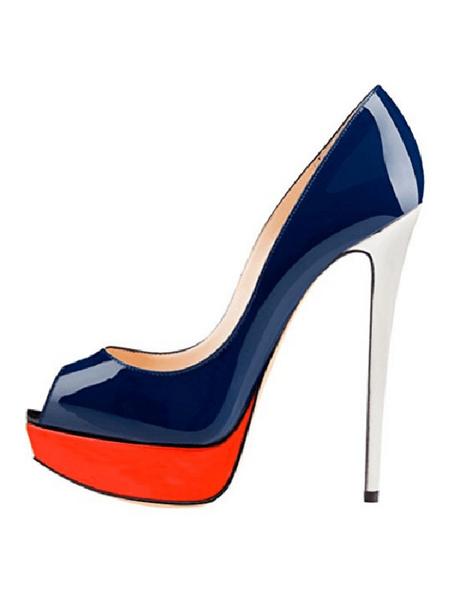 Milanoo Zapatos de baile negro tacon alto zapatos de vestido de mujer