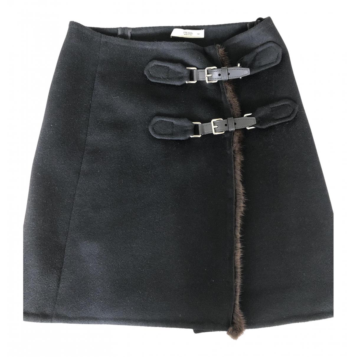 Prada N Black Cashmere skirt for Women 40 FR