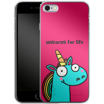 Apple iPhone 6 Silikon Handyhuelle - Unicorns for Life von Flossy and Jim