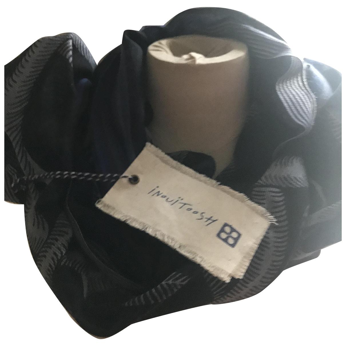 Inoui \N Black Wool scarf for Women \N