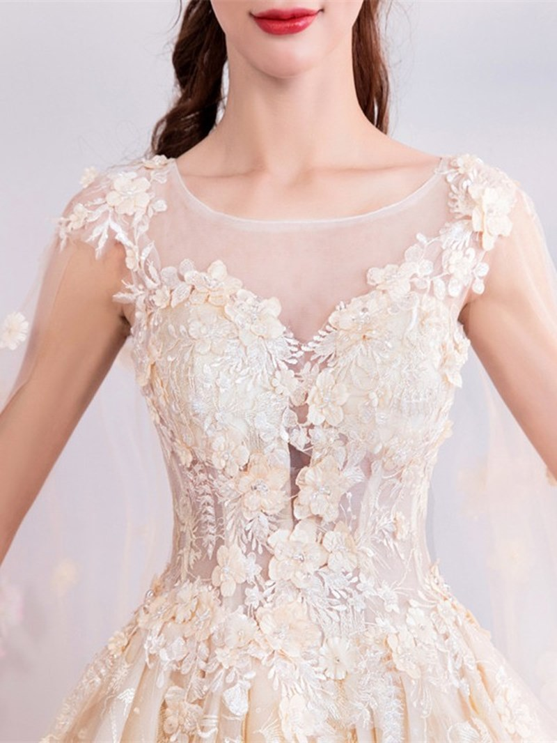 Ericdress Sleeveless Knee-Length A-Line Appliques Homecoming Dress