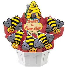 Thanks A Buzz-illion Cookie Bouquet