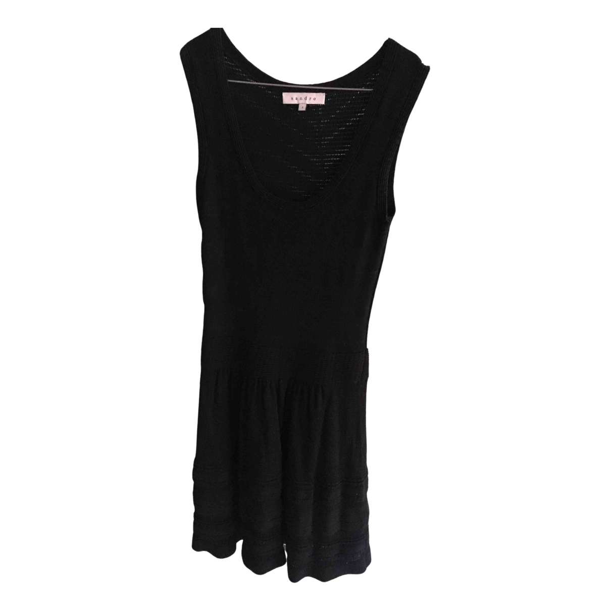 Sandro - Robe   pour femme en coton - noir