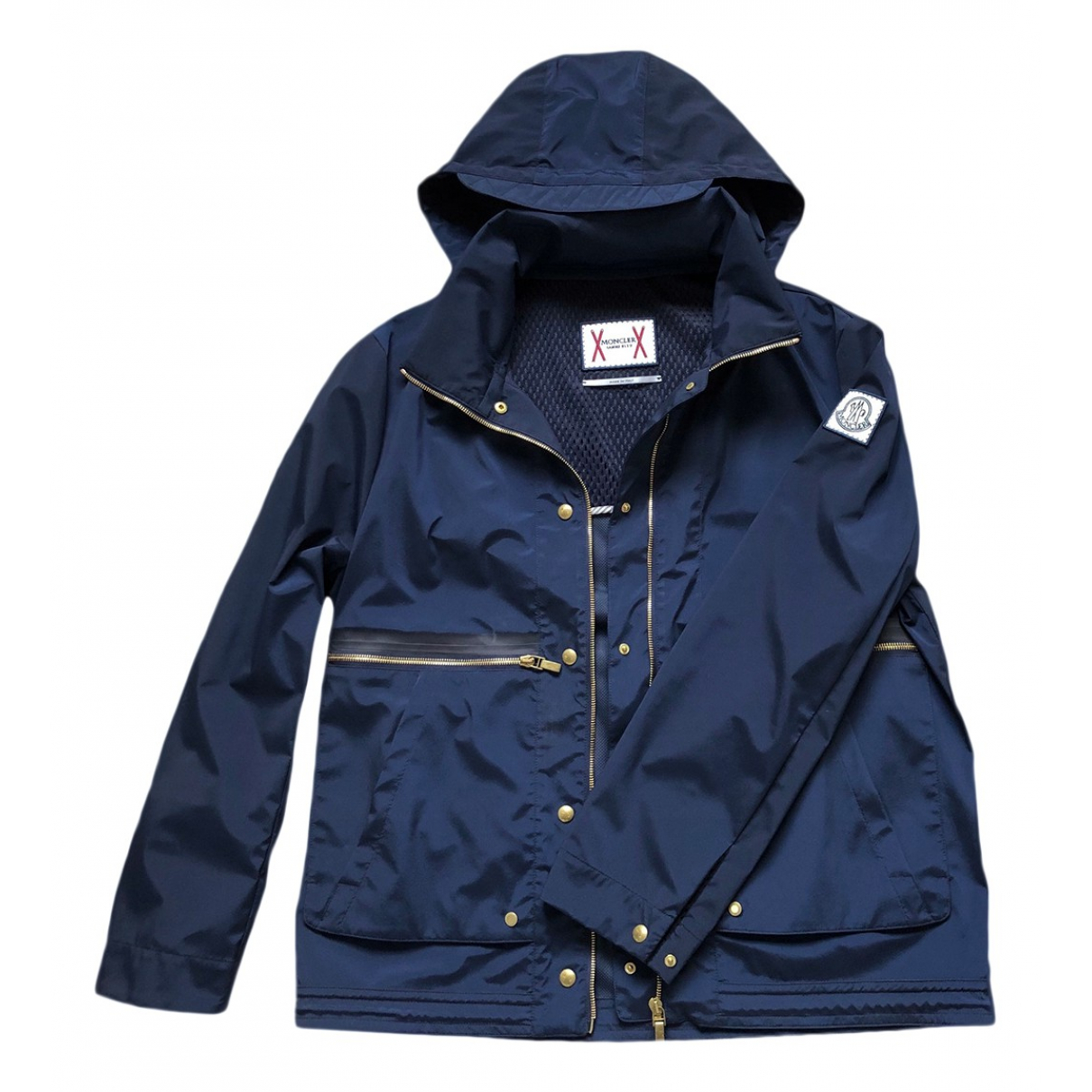 Moncler \N Jacke in  Marine Polyester