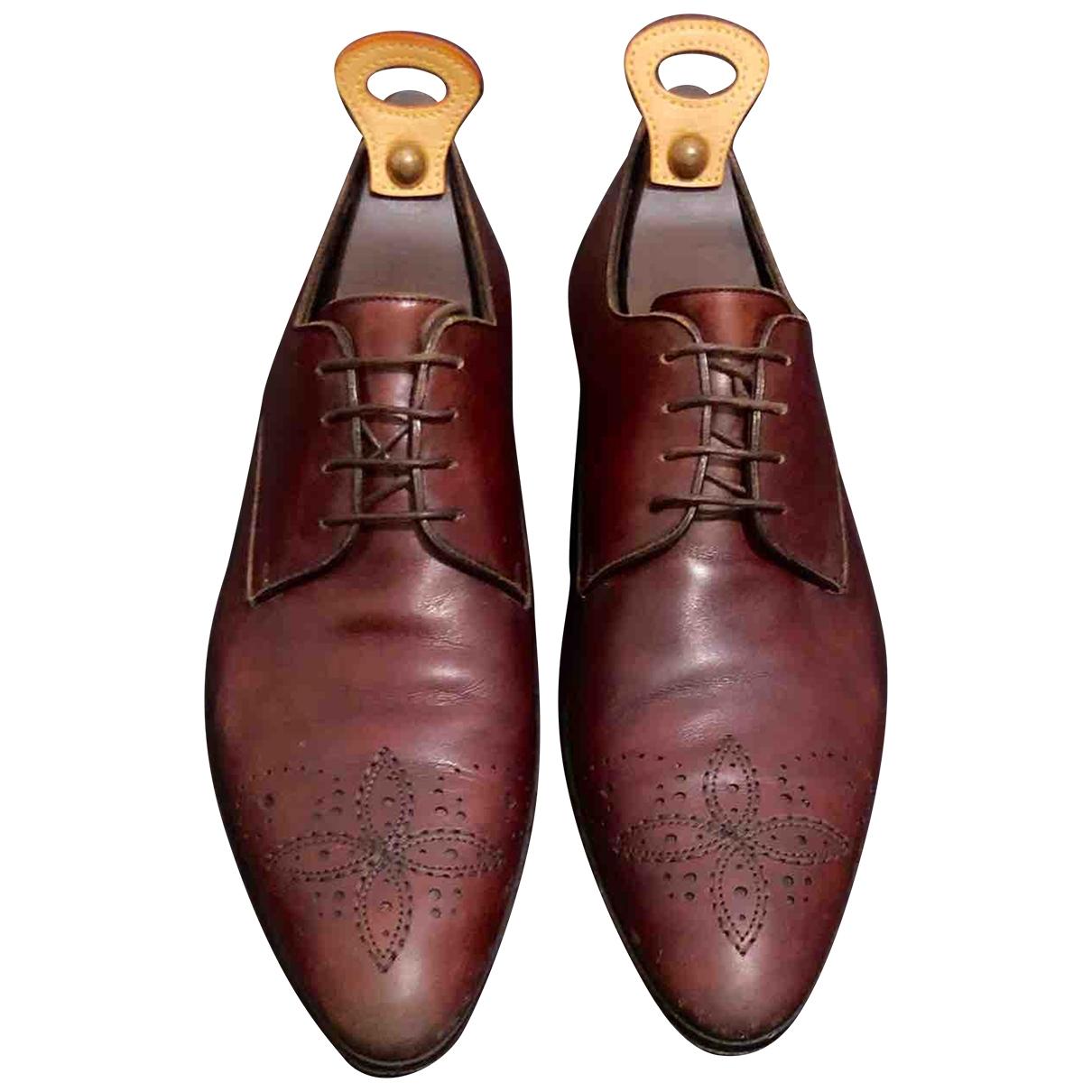 Louis Vuitton - Derbies   pour homme en cuir - marron