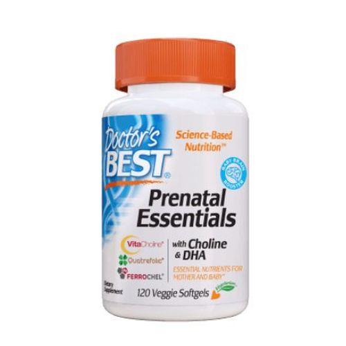 Prenatal Essentials with Choline & DHA 120 Veg Softgels by Doctors Best